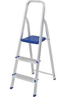 Escada De Alumínio 3 Degraus Mor - Multistock
