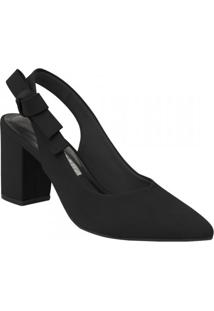 ed99b897c5 Mundo das Botas. Sapato Sintético Com Salto Feminino Via Marte Chanel Preto