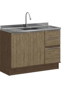 Balcão De Cozinha Com Rodapé Decibal Lis 4030R Cedro E Wood