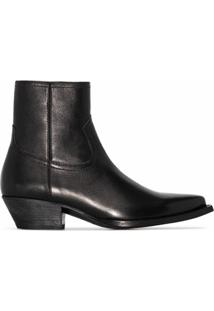 Saint Laurent Ankle Boot West - Preto