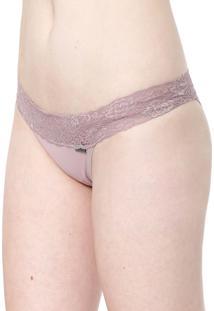 Calcinha Calvin Klein Underwear Tanga Monogram Preta
