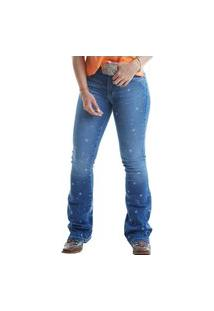 Calça West Dust Megan Cancun Bootcut Jeans Medio