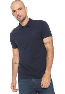 Camisa Polo Colcci Reta Logo Azul-Marinho