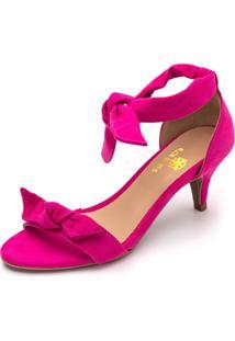 Sandália Feminina Salto Baixo Fino 180170 Pink - Kanui