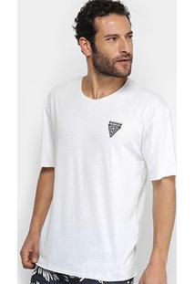 Camiseta Triton Manga Curta Masculina - Masculino-Branco
