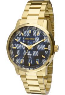 Relógio Mormaii Analógico Luau Mo2036Hu4A Dourado - Kanui