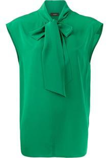 Joseph Camisa Nancy Com Amarração Na Gola - Verde