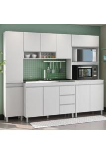 Cozinha Compacta Alexa 10 Portas 3 Gavetas Branco - Viero Móveis