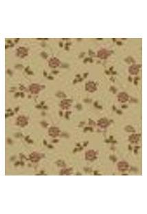 Papel De Parede Flowertime Ff202-08 Dourado Vinílico Com Estampa Contendo Floral
