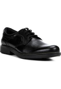 Sapato Social Couro Shoestock Pesponto Masculino - Masculino-Preto