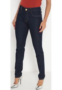 Jeans Vênus Com Bolsos - Azul Escuro- Lança Perfumelança Perfume