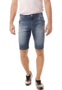 Bermuda Jeans Eventual Middle Masculina - Masculino-Azul