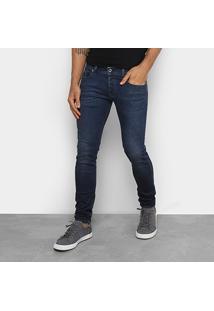 Calça Jeans Skinny Diesel Masculina - Masculino-Jeans