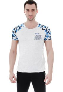 Camiseta Raglan Masculina Fkn Menswear - Azul