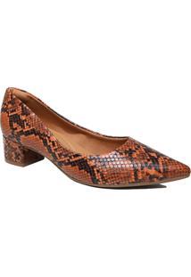 Sapato Scarpin Zariff Salto Grosso Animal Print
