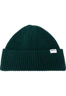 A.P.C. Ribbed-Knit Beanie Hat - Verde
