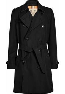 Burberry Trench Coat The Kensington Heritage - Preto