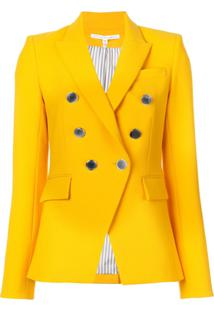 Veronica Beard Blazer Com Abotoamento Duplo - Amarelo