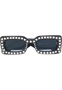... Gucci Eyewear Óculos De Sol Com Aplicação De Pérolas - Preto 937afc0399492