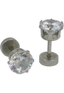 Brinco Tuliska Estilo Alargador Cristal - 6 Mm Prata