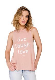 Regata Handbook Live Laugh Love Rosê