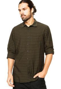 Camisa Manga Longa Quiksilver Mission Verde