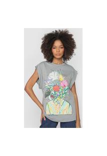 Camiseta Colcci Flores Do Cerrado Cinza