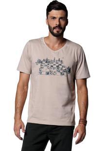 Camiseta Diezo Xadrez Caqui & Preta