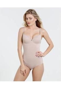 Body Modelador Marisa Feminino - Feminino-Marrom