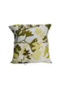 Capa De Almofada Decore Musgo Floral 1 Peça