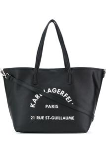 Karl Lagerfeld Bolsa Tote Rue St. Guillaume - Preto