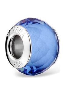 Pingente Life Murano Azul Transparente