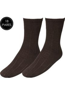 Meia Top Fill Kit C-18 Social Casual-Tf18-Marrom