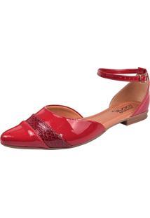 Sandália Toque Feminino Salomé Vermelha