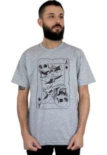 Camiseta Bleed American Death Card Cinza Mescla
