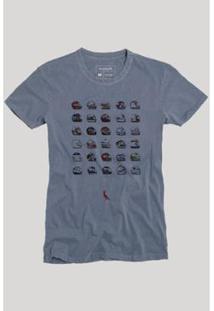 Camiseta Reserva Capacetes Masculina - Masculino-Marinho