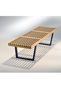 Banco Plataforma Estrutura Madeira Ebanizada Studio Mais Design By George Nelson