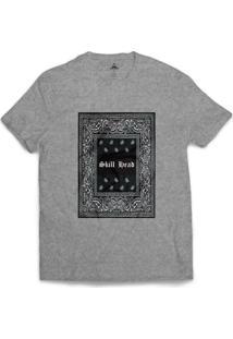 Camiseta Skill Head Moldura Arabescos Cinza