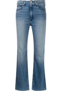 Rag & Bone Calça Jeans Cropped Com Efeito Desbotado - Azul