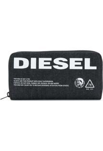 Diesel Carteira 24 Zip - Azul