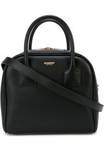 Burberry Cube Top Handle Bag - Preto
