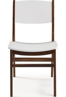 Cadeira Dumon Cacau E Branco