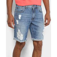 cbe1cc56f Bermuda Jeans Colcci Estonada Davi Masculina - Masculino