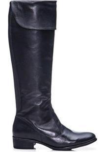 Bota Sandalo Bagger Over Knee Amyah Feminina - Feminino-Preto