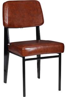 Cadeira Industrial Mkc-058-Marka Móveis - Marrom