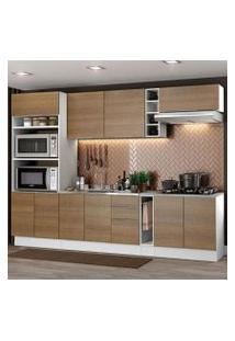Cozinha Completa Madesa Stella 290001 Com Armário E Balcão Branco/Rustic Cor:Branco/Rustic