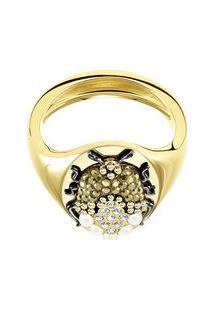 Anel Magnetic- Dourado- Tamanho: 55 + 60Swarovski
