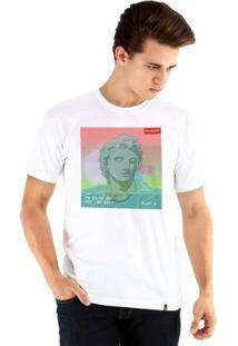 Camiseta Ouroboros Manga Curta Vaporwave Xtyle Masculina - Masculino-Branco