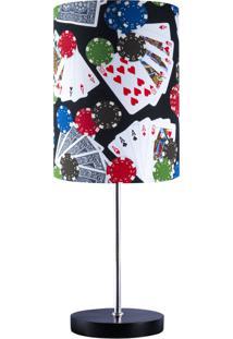 Abajur Carambola Baralho Poker Colorido