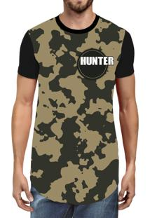 Camiseta Hunter Longline Military Preta